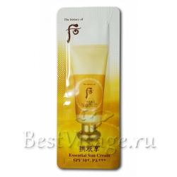 Пробник The History of Whoo Essential Sun Cream SPF50+PA+++