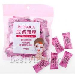 Bioaqua Compressed Facial Mask сухая маска для лица (50шт.)